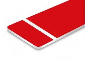 Gravure plaque acrylique rouge